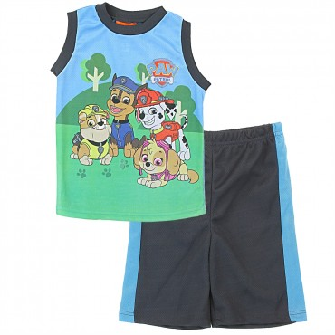 Nick Jr Paw Patrol Boys Tank Top 2 Piece Sublimation Short Set At Space City Kids Clothing Store