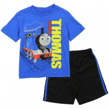 Thomas and Friends The Engine Thomas Blue Shirt With Black Short Space City Kids Clothing