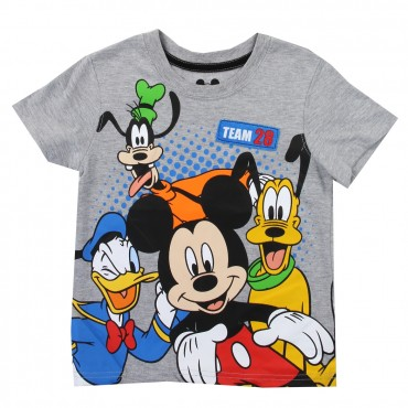Disney Mickey Mouse and Friends Grey Toddler Boys Shirt Space City Kids Clothing Store