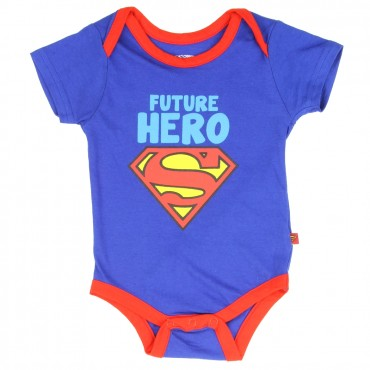 DC Comics Superman Future Hero Blue Infant Onesie space City Kids Clothing Conroe Texas