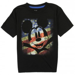 Disney Mickey Mouse American Flag Boys Shirt