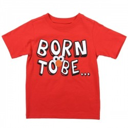 Sesame Street Elmo Born To Be Cute Red Toddler Boys Shirt Space City Kids Clothing