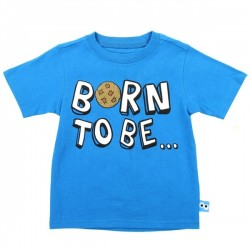 Sesame Street Cookie Monster Born To Be Hungry Blue Toddler Boys Shirt