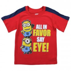 Despicable Me Minions All In Favor Say Eye Toddler Boys Shirt Space City Kids Clothing Store