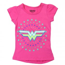 DC Comics Wonder Woman Pink Toddler Girls Shirt Space City Kids Clothing