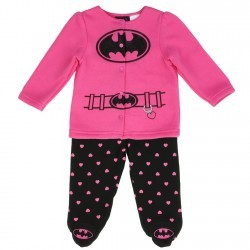 DC Comics Batgirl Fleece Footed Pants And Button Down Jacket Set Space City Kids Clothing Store