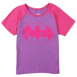 DC Comics Batgirl Purple Toddler Girls Princess Tee Space City Kids Clothing