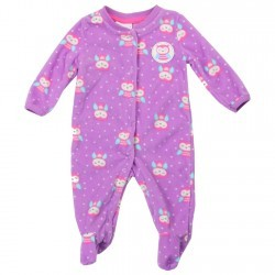Buster Brown Baby Owls Pink Snap Down Microfleece Footed Sleeper Space City Kids Clothing Store