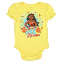 Disney Moana Yellow Baby Onesie Space City Clothing Store