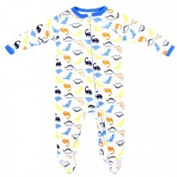 Weeplay Baby Boys Dinosaurs Jersey Coverall Footed Sleeper Space City Kids Clothing Store