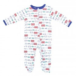 Weeplay Baby Boys Buses and Cars Jersey Coverall Footed Sleeper Space City Kids Clothing Store