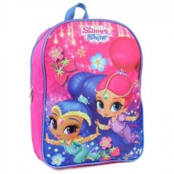 Nick Jr Shimmer and Shine Pink Girls Backpack
