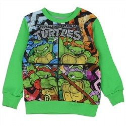Nick Jr Teenage Mutant Ninja Turtles Green Sublimated Fleece Sweatshirt