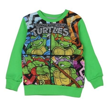 Nick Jr Teenage Mutant Ninja Turtle Sublimated Fleece Sweatshirt Featuring All 4 Turtles