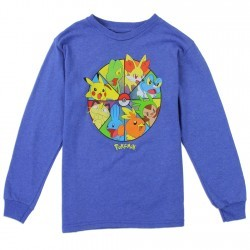 Pokemon Pikachu and Friends Boys Long Sleeve Shirt Space City Kids Clothing Store