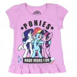 My Little Pony Ponies Have More Fun Lavander Toddler Shirt