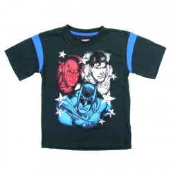 DC Comics The Justice League Batman Superman and The Flash Shirt Space City Kids Clothing