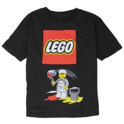 Lego Painter Black Short Sleeve Graphic T Shirt