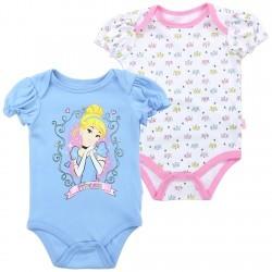 Disney Princess Cinderella Blue And White Onesie Set Space City Kids Clothing Store