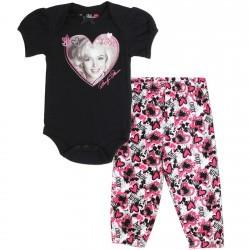 Marilyn Monroe Black Onesie and Pants Set Space City Kids Clothing Store