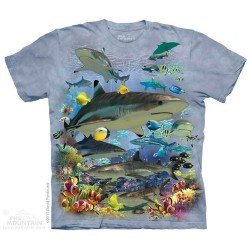 The Mountain Artwear Reef Sharks Boys Shirt Space City Kids Clothing
