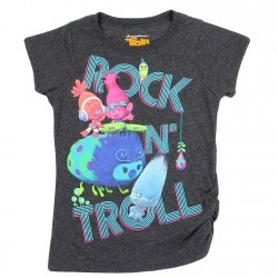 Dreamworks Trolls Rock Troll Charcoal Girls Shirt Space City Kids Clothing