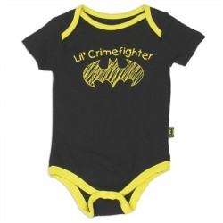 DC Comics Batman Lil Crimefighter Black Infant Onesie