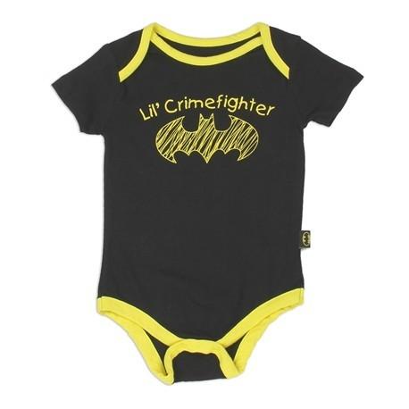 DC Comics Batman Lil Crimefighter Black Infant Onesie