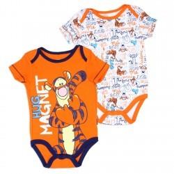 Disney Winnie The Pooh Tigger Hug Magnet Orange 2 Pack Onesie Set Space City Kids Clothing