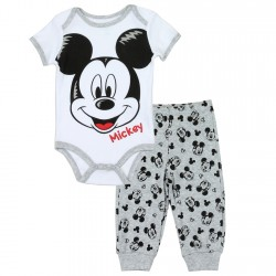 Disney Mickey Mouse Onesie And Pants Set