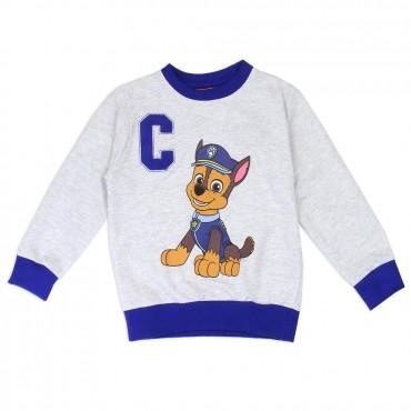 Nick Jr Paw Patrol Chase Grey Sweatshirt With Royal Blue Trim Space City Kids Clothing Store
