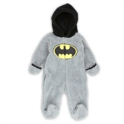 DC Comics Batman Grey Velboa Zippered Fleece Pram
