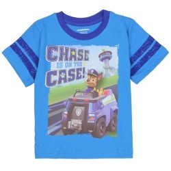 Chase Is On The Case Blue Nick Jr Paw Patrol Short Sleeve T Shirt