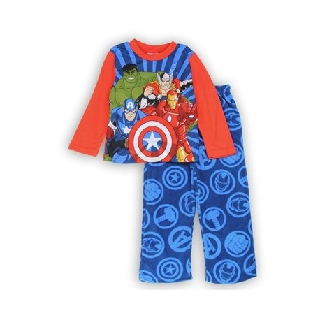 Marvel Comics Avengers Pajamas With Captain America, Iron Man, The Hulk And Mighty Thor