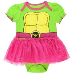 Nick Jr Teenage Mutant Ninja Turtles Green Turtle Shell Dress Up Tutu Onesie Space City Kids Clothing