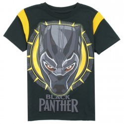 Marvel Comics Black Panther Boys Short Sleeve Shirt Space City Kids Clothing Store