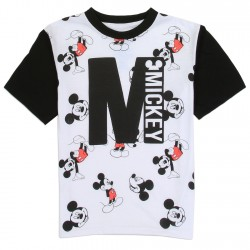 Disney Mickey Mouse All Over Print Black And White Boys Shirt Space City Kids Clothing