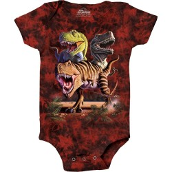 The Mountain Artwear T Rex Collage Brown Baby Onesie Space City Kids Clothing Store