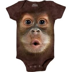 The Mountain Artwear Big Face Orangutan Brown Baby Onesie Space City Kids Clothing Store