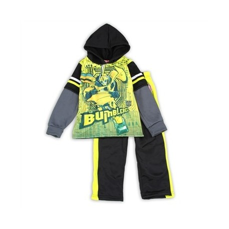 Transformers Bumblebee Toddler Fleece Hooded Top And Pants