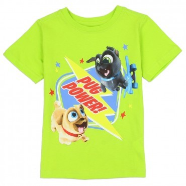Disney Puppy Dog Pals Bingo and Rolly Pug Power Toddler Boys Shirt Space City Kids Clothing Store