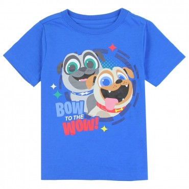 Disney Puppy Dog Pals Bingo and Rolly Bow To The Wow Toddler Shirt Space City Kids Clothing Store