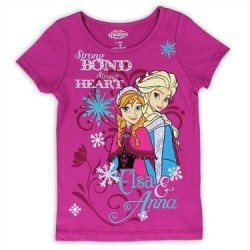 Disney Frozen Anna And Elsa Strong Bond Strong Heart Top