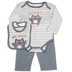 Kathy Ireland Big Hoot Infant Boys 3 Piece Set