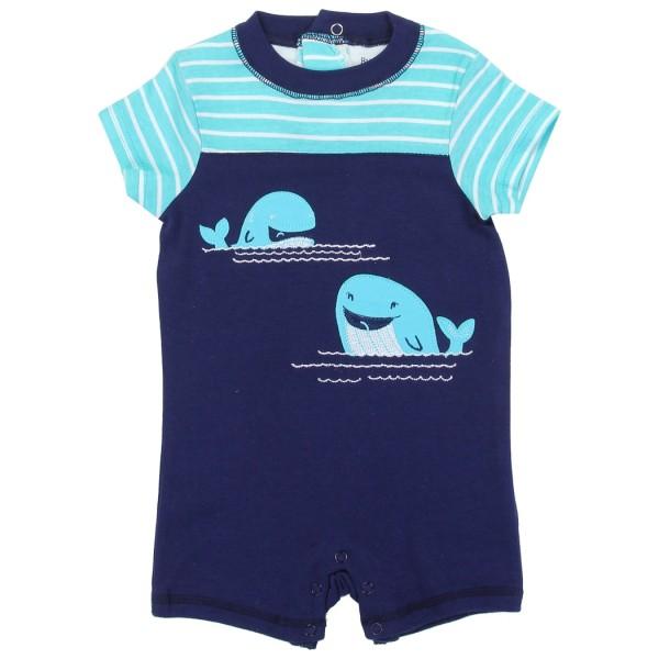 e17d098a1 Buster Brown Whale Applique Boys Romper