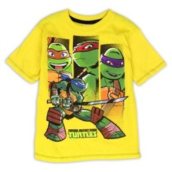Nick Jr Teenage Mutant Ninja Turtles Yellow Graphic T Shirt
