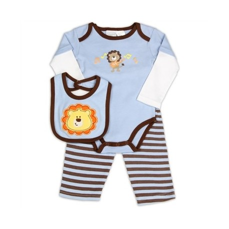 Kathy Ireland Lion Playing The Guitar Blue 3 Piece Outfit