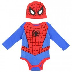 66ec654aa0 Marvel Comics Spider Man Long Sleeve Onesie And Hat Set Space City Kids  Clothing Store