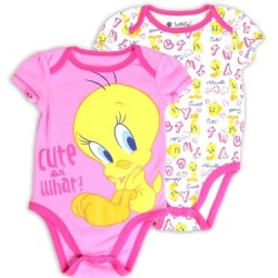Looney Tunes Tweety Bird Cute Or What Pink and White Creeper Set