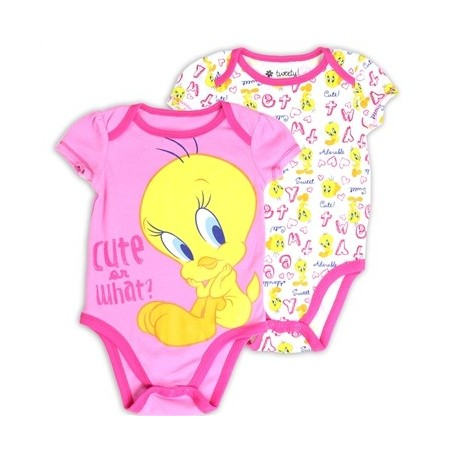 Looney Tunes Tweety Bird Cute Or What Pink and White Creeper Set Space City Kids Clothing Store